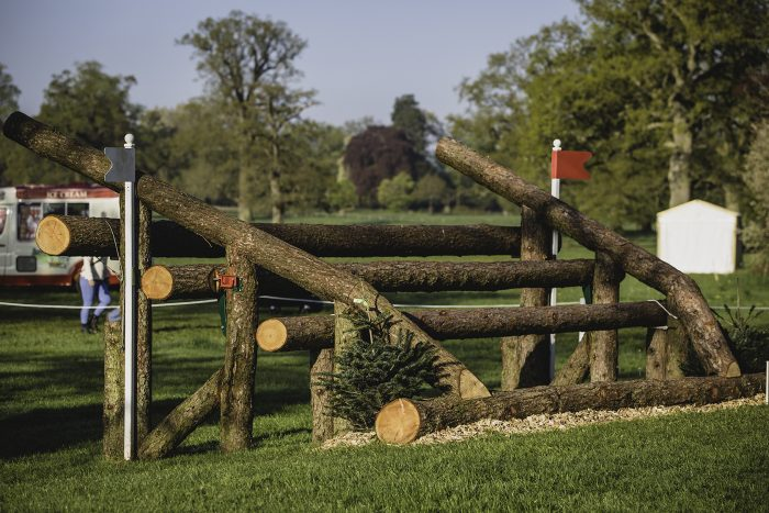 New quad rail fence on course