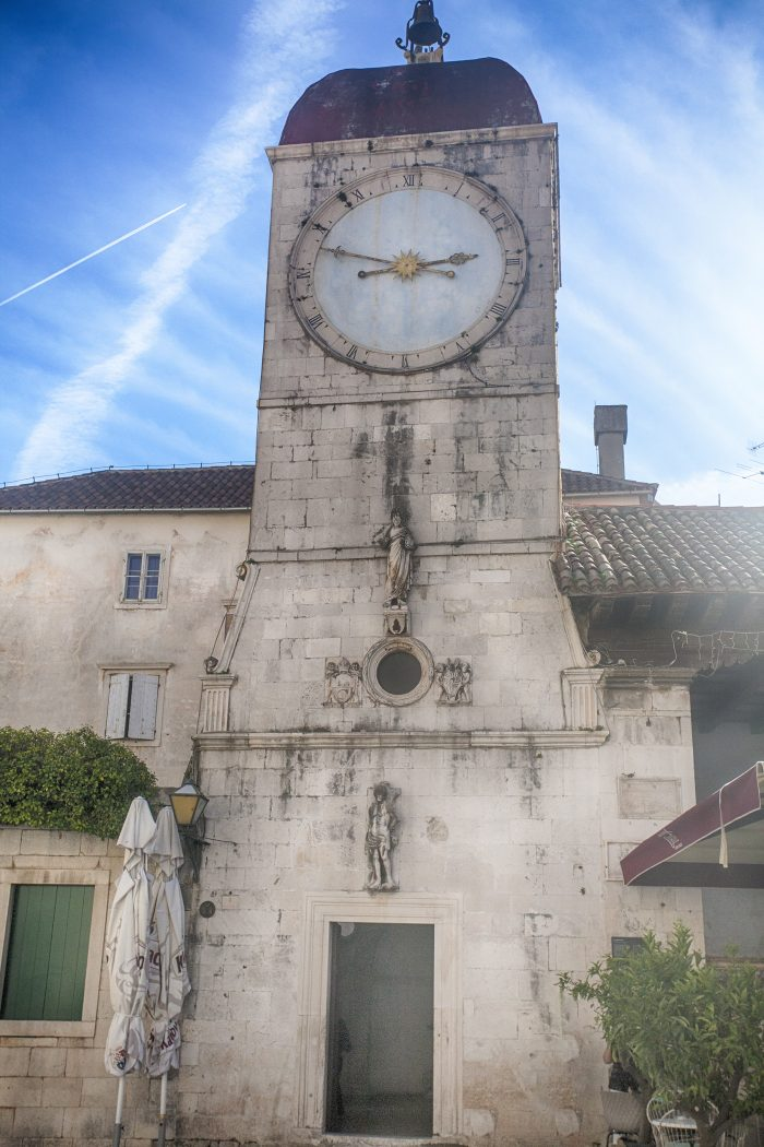 Clock Tower in Old Town Trogir