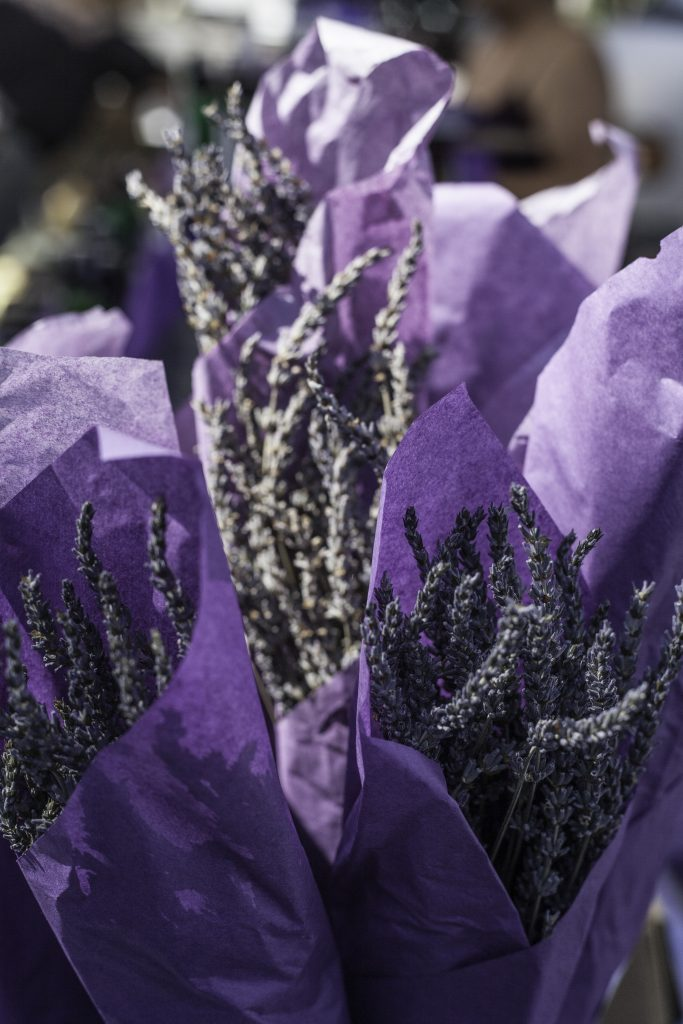 Gorgeous lavender from the Market to make lavender butter with