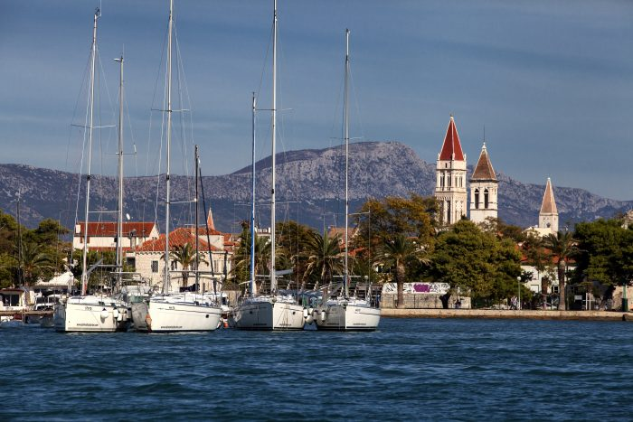 Coming into Trogir from the boat