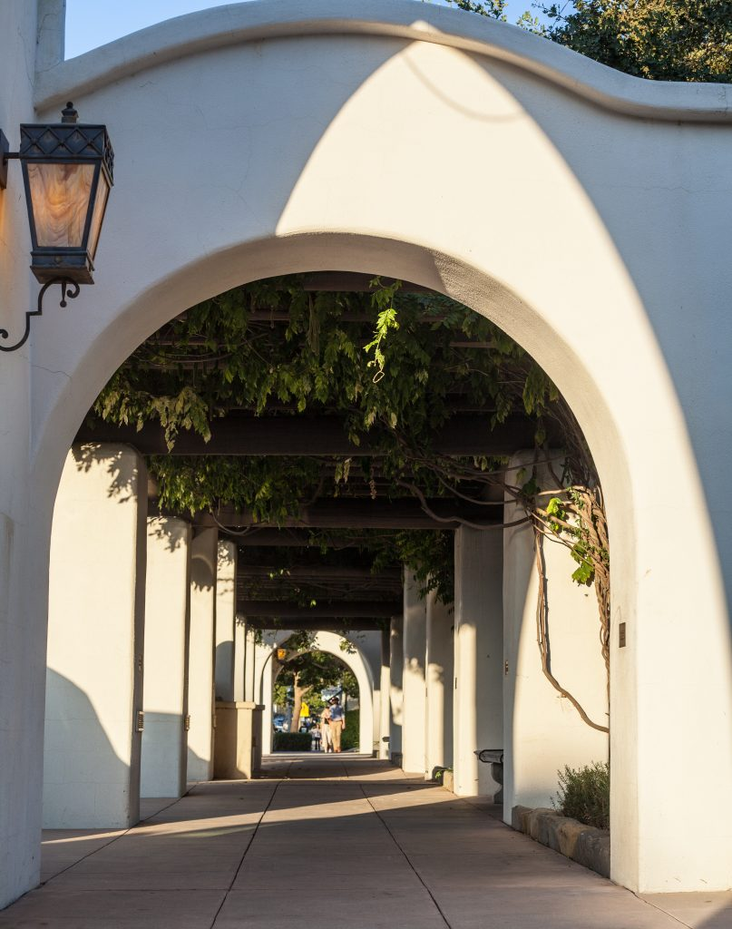 Archways in front of the park in downtown Ojai